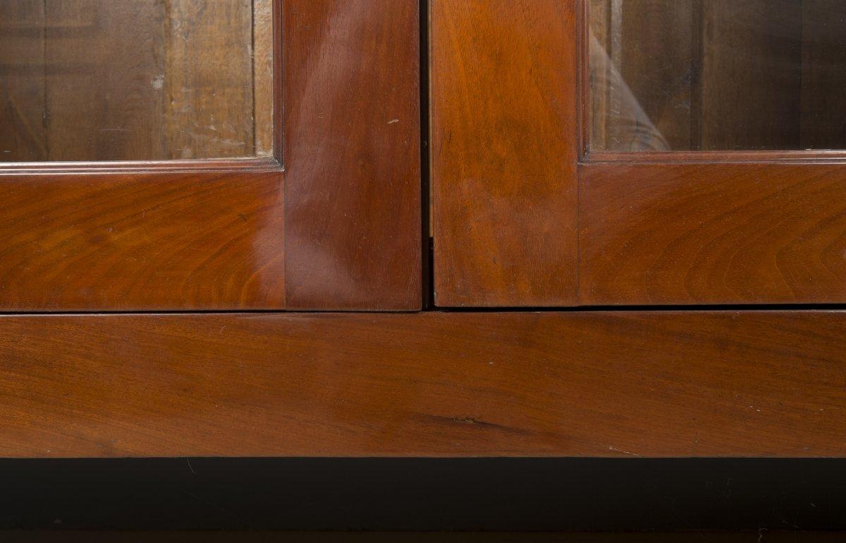 Paire de biblioth ques en acajou d 39 poque louis xvi xviiie si cle n 4 - Galerie gilles linossier ...