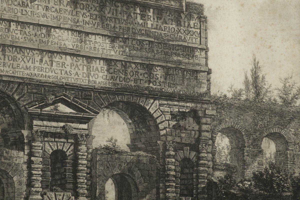 Gravure par francesco piranesi xviiie si cle - Galerie gilles linossier ...