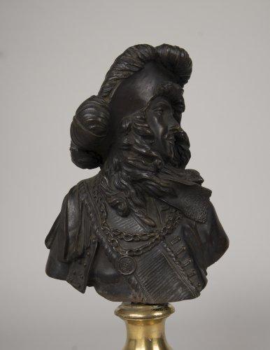 Petit buste en bronze repr sentant tourville xixe si cle - Galerie gilles linossier ...