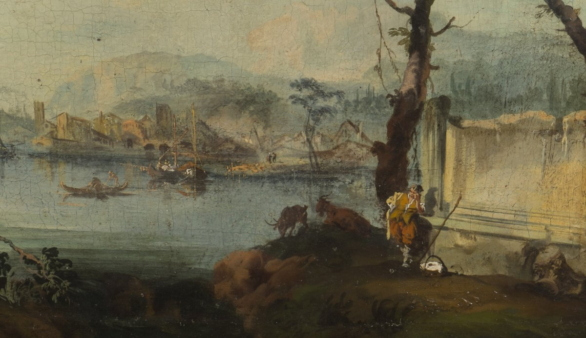 Paire de caprices par michele marieschi 1710 1743 xviiie si cle - Galerie gilles linossier ...