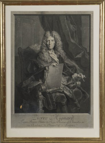 Engraving portraying Pierre Mignard - Engravings & Prints Style