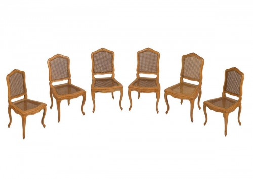 Set Of 6 Louis XV Caned Chairs