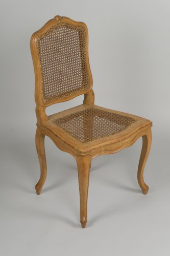 Set Of 6 Louis XV Caned Chairs  - Seating Style Louis XV