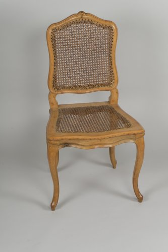 Set Of 6 Louis XV Caned Chairs  -