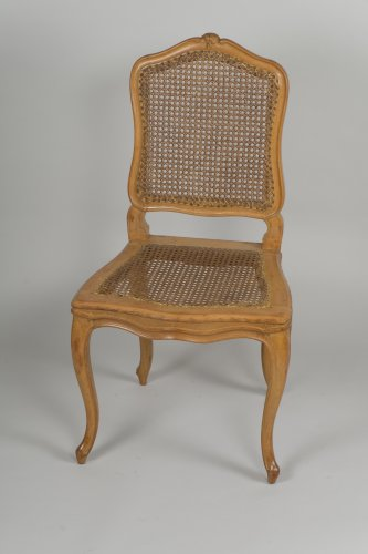 18th century - Set Of 6 Louis XV Caned Chairs