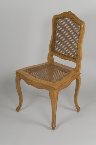 Louis XV - Set Of 6 Louis XV Caned Chairs