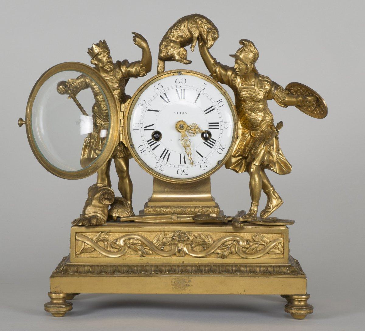 Pendule d 39 poque louis xv sign e gudin paris xviiie si cle - Galerie gilles linossier ...