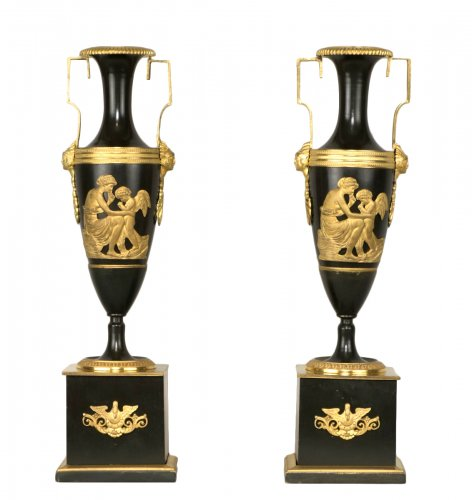 Pair Of French Directoire Vases