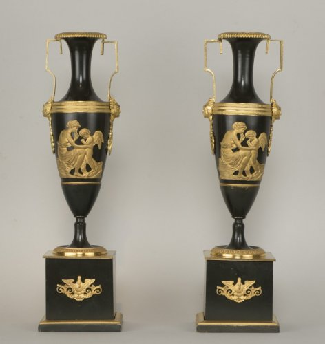 Pair Of French Directoire Vases -