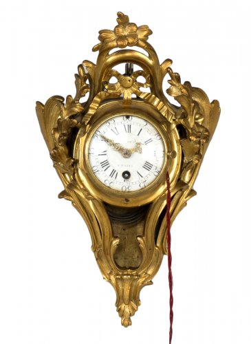Little Gilt Bronze Alcove Wall Clock
