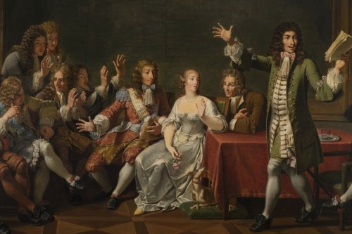 Paintings & Drawings  - Molière Reading Tartuffe at Ninon de Lenclos's by Monsiau