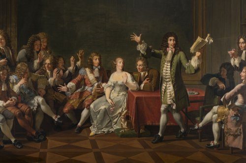 19th century - Molière Reading Tartuffe at Ninon de Lenclos's by Monsiau