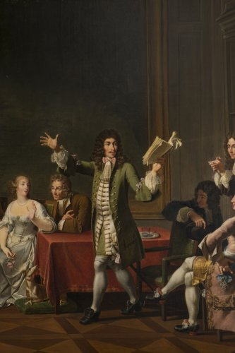 Molière Reading Tartuffe at Ninon de Lenclos's by Monsiau -