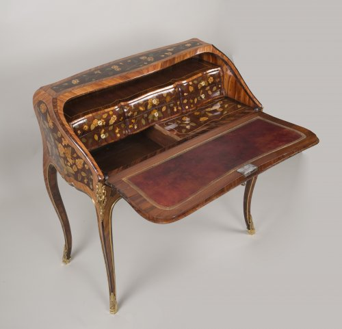 """18th century - Louis XV """"Dos d'Ane"""" Desk Stamped by Peridiez"""