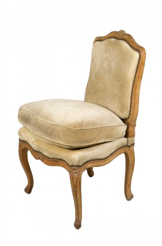 "Louis XV Beech ""Chauffeuse"" Chair"