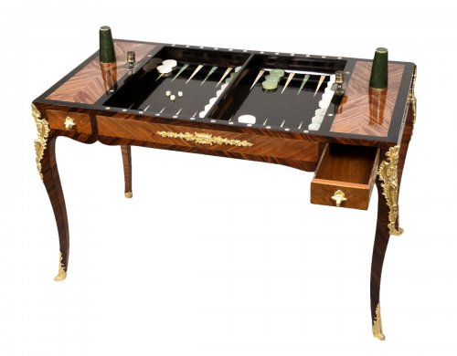 Louis XV Tric Trac Table Stamped by Jean Potarange