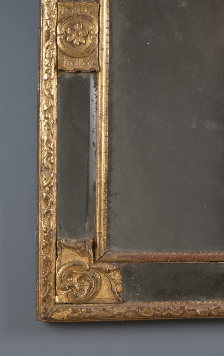 Miroir fronton d 39 poque r gence xviiie si cle - Galerie gilles linossier ...