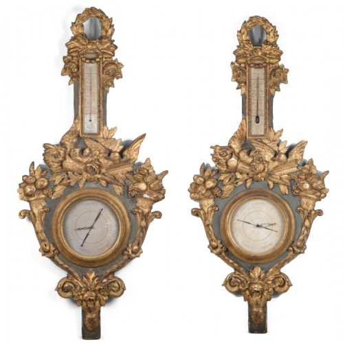 Pair of great Barometers and Thermometers from the 18th Century