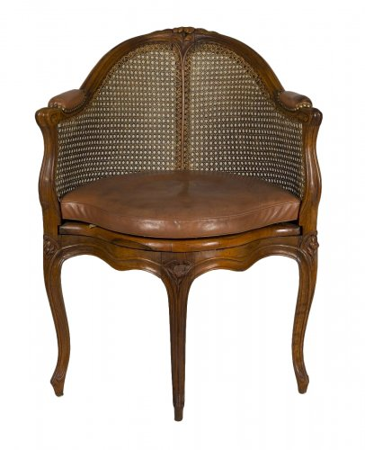 A Louis XV Desk Armchair Attributed to E. Meunier