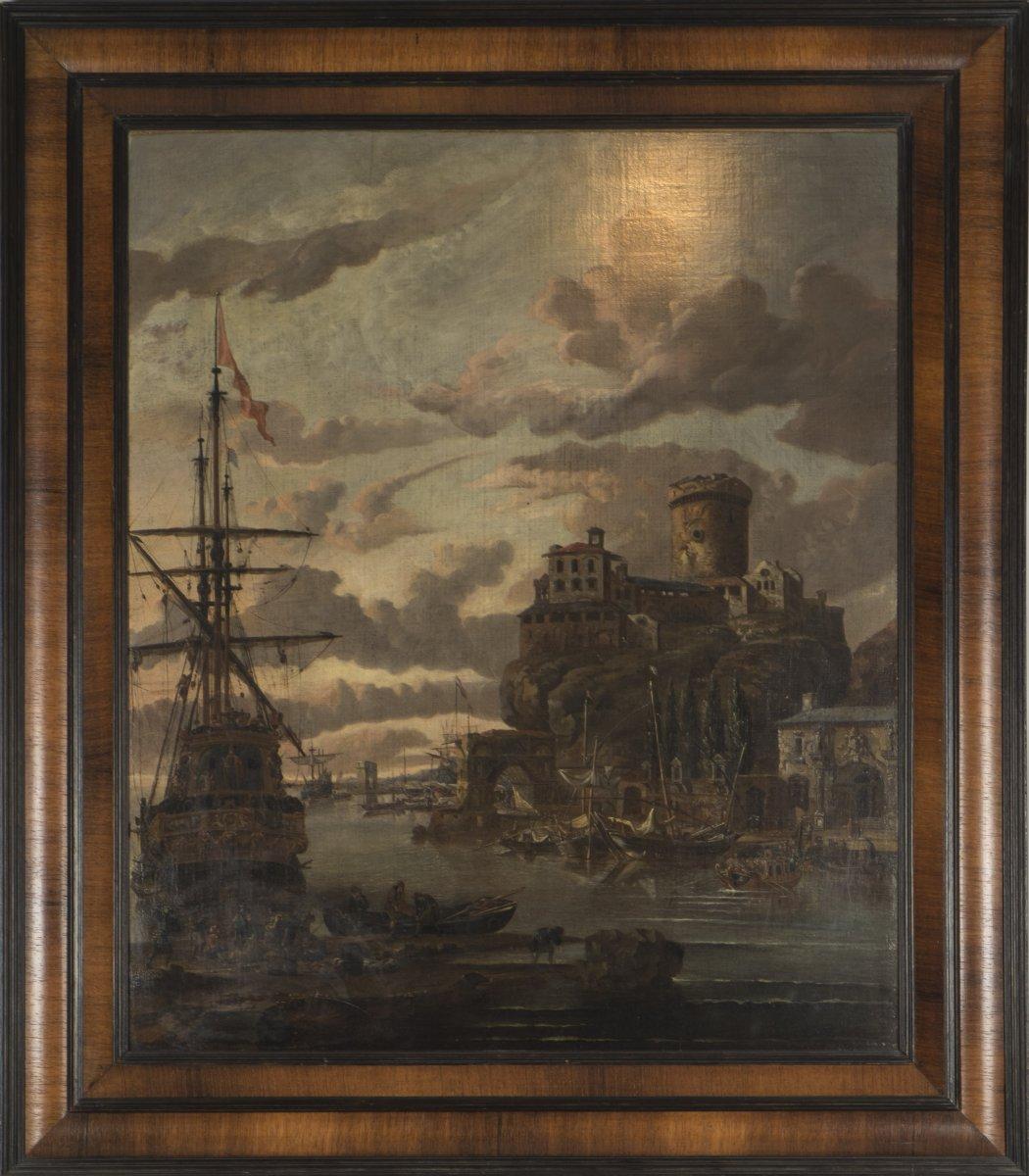 A storck 1635 1710 vue d 39 un port xviiie si cle for Un porte vue