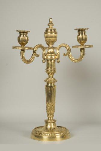 Lighting  - Pair of Louis XVI candelabrum