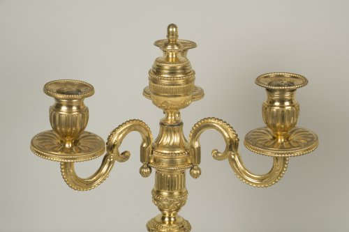 Pair of Louis XVI candelabrum - Louis XVI