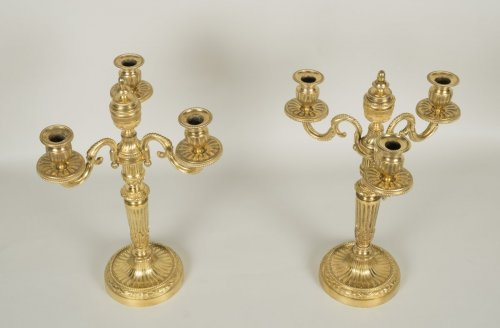 Louis XVI - Pair of Louis XVI candelabrum