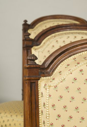 Set of 6 Louis XVI walnut chairs -