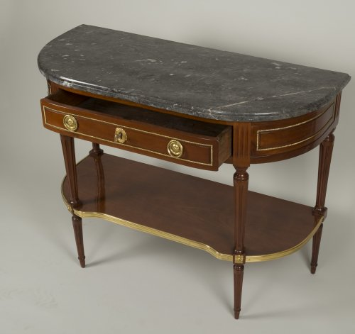 18th century - Louis XVI Mahogany console table