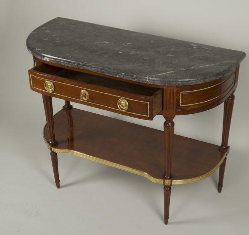 18th century - Louis XVI Mahogany console table