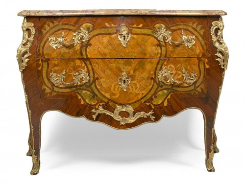 Commode d'époque Louis XV estampille de Pierre Migeon II