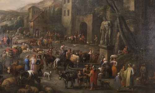 Marketplace - Peeter van Bredael (1629-1719) - Paintings & Drawings Style