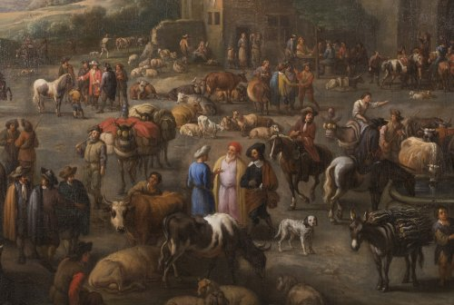 Paintings & Drawings  - Marketplace - Peeter van Bredael (1629-1719)