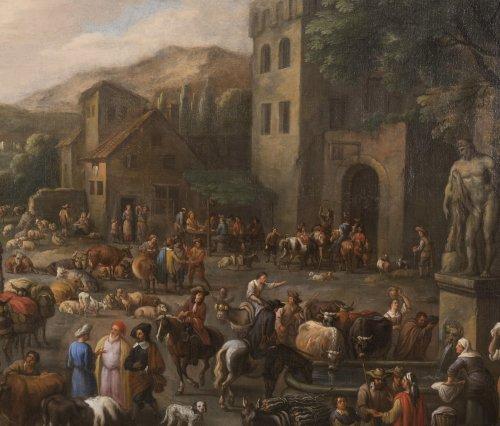 Marketplace - Peeter van Bredael (1629-1719) -