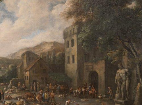 - Marketplace - Peeter van Bredael (1629-1719)