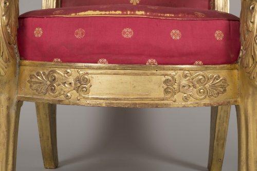 Seating  - Pair of armchairs, stamped L. Bellange