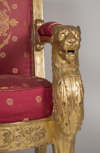 Pair of armchairs, stamped L. Bellange -