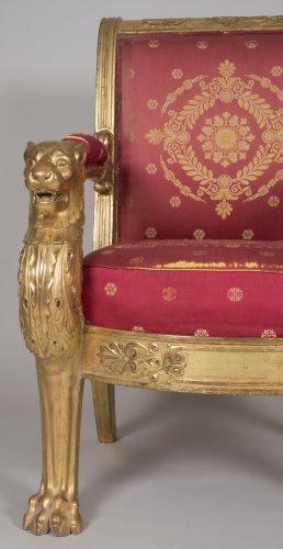 - Pair of armchairs, stamped L. Bellange