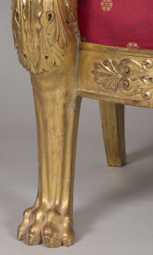 Antiquités - Pair of armchairs, stamped L. Bellange