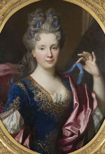 Nicolas de Largillière (Paris 1656-1746)  - Portrait  of Geneviève Chamillard - Paintings & Drawings Style