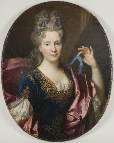 Nicolas de Largillière (Paris 1656-1746)  - Portrait  of Geneviève Chamillard -