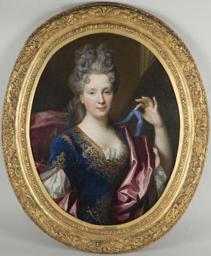 - Nicolas de Largillière (Paris 1656-1746)  - Portrait  of Geneviève Chamillard