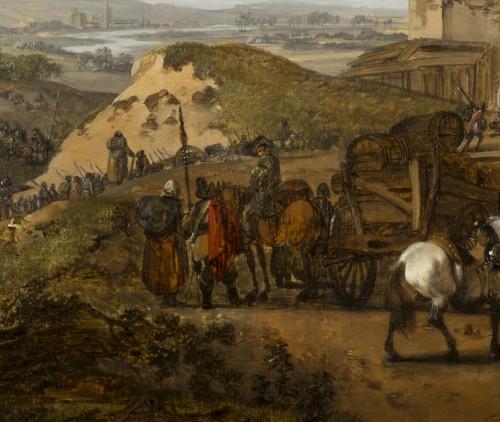 18th century - Pair of horsemen halt scenes - C.M.H. Duplessis