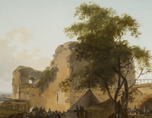 Pair of horsemen halt scenes - C.M.H. Duplessis -