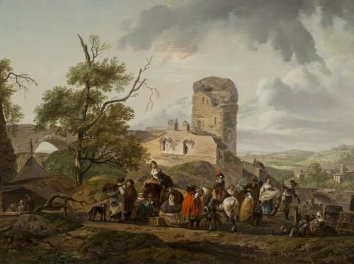 Antiquités - Pair of horsemen halt scenes - C.M.H. Duplessis