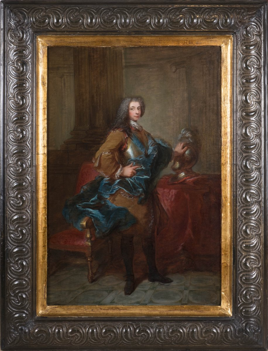 louis michel van loo portrait d 39 un homme arborant l 39 ordre du saint esprit xviiie si cle n. Black Bedroom Furniture Sets. Home Design Ideas