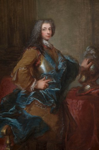 Paintings & Drawings  - Louis-Michel Van Loo - portrait of a man wearing the Order of Saint-Esprit