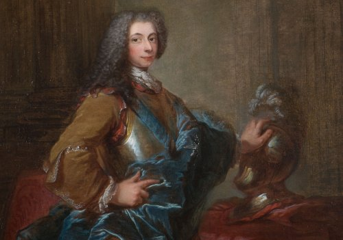 Louis-Michel Van Loo - portrait of a man wearing the Order of Saint-Esprit -