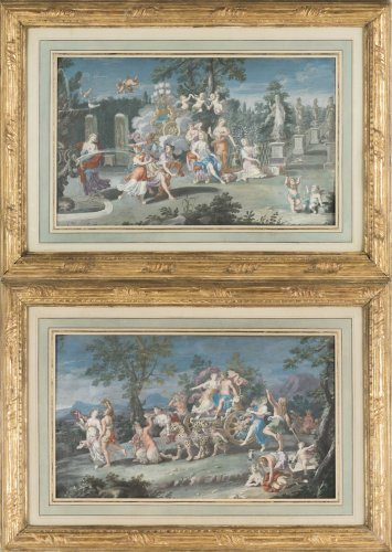 Pair of gouaches - attributed to Richard Van Orley