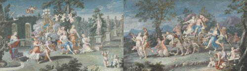 Pair of gouaches - attributed to Richard Van Orley  - Paintings & Drawings Style